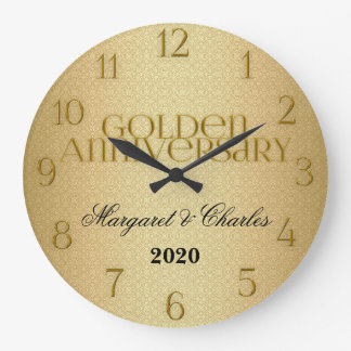 50th Golden Wedding Annivsersary Custom Wall Clocks