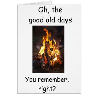 "**50th HUMOR** REGARDING LIGHTING HER FIRE"" Card"