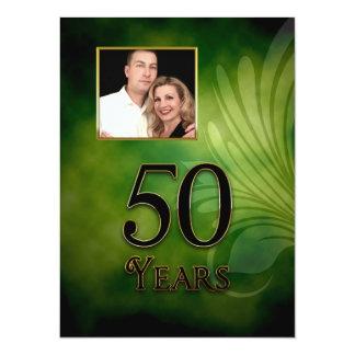 "50TH INVITATION ( BIRTHDAY OR ANNIVERSARY ) 5.5"" X 7.5"" INVITATION CARD"