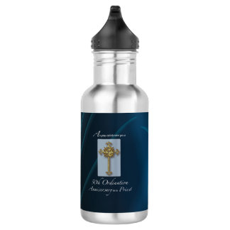 50th Jubilee Ordination Anniversary of Priest 532 Ml Water Bottle