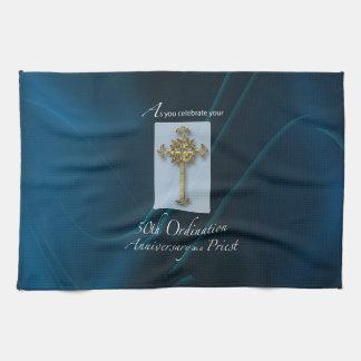 50th Jubilee Ordination Anniversary of Priest Tea Towel