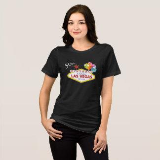 50th Las Vegas Birthday 3/4 Sleeve Raglan T-Shirt