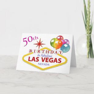 50th Las Vegas Birthday Card
