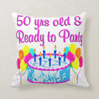 50TH PARTY DIVA CUSHION