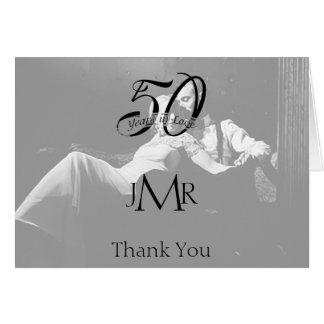 50th Photo Anniversary Thank You Card