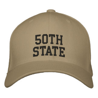 50th State Hat Embroidered Baseball Caps