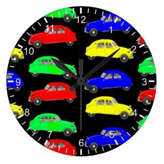 50th Style Citroen 2CV Pattern Large Clock