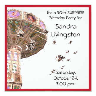 carousel party invitations announcements. Black Bedroom Furniture Sets. Home Design Ideas