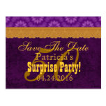 50th SURPRISE Birthday Save the Date Purple v6