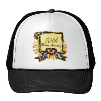 50th wedding anniversary 3w cap
