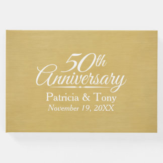 50th Wedding Anniversary - brushed gold background