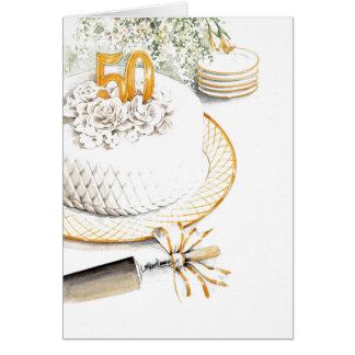 50th Wedding Anniversary Cake Card