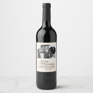 50th Wedding Anniversary Custom Wine Label