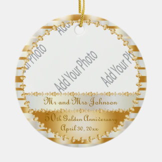 50th Wedding Anniversary - DIY Photo Ceramic Ornament