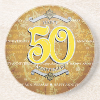 50th Wedding Anniversary Drink Coasters