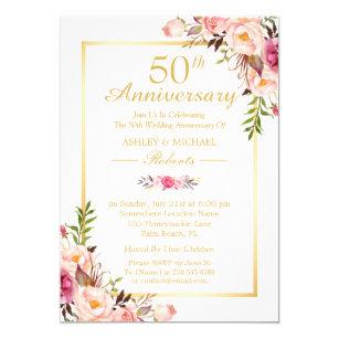 50th Wedding Anniversary Invitations Announcements Zazzlecomau