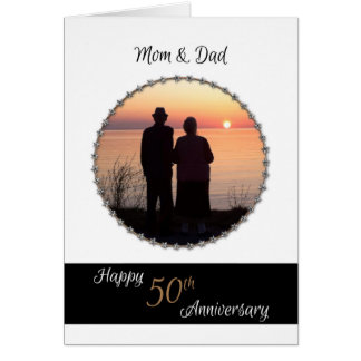 50th Wedding Anniversary for Mom and Dad Card