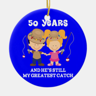 50th Wedding Anniversary Funny Gift For Her Ceramic Ornament