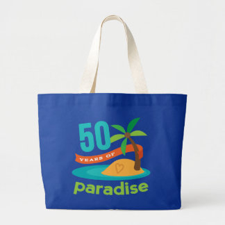 50th Wedding Anniversary Funny Gift For Her Large Tote Bag