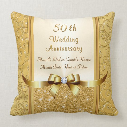 50th Wedding Anniversary Gift Ideas For Parents Cushion