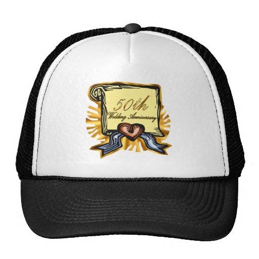50th Wedding Anniversary Gifts Trucker Hats