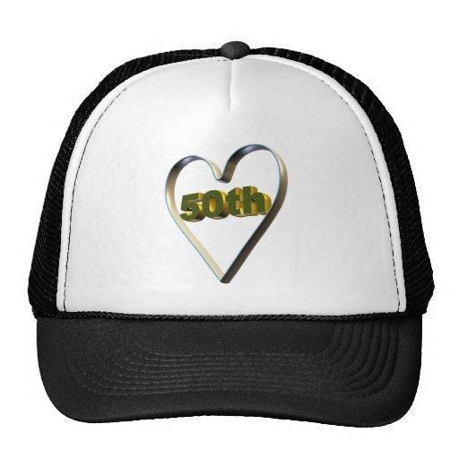 50th Wedding Anniversary Gifts Trucker Hat