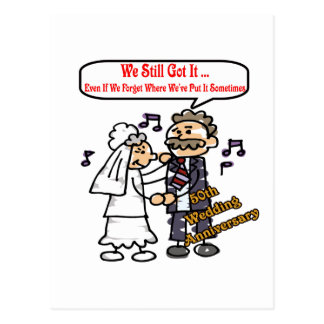 50th Wedding Anniversary Gifts Postcard