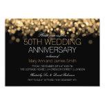 50th Wedding Anniversary Gold Lights 13 Cm X 18 Cm Invitation Card