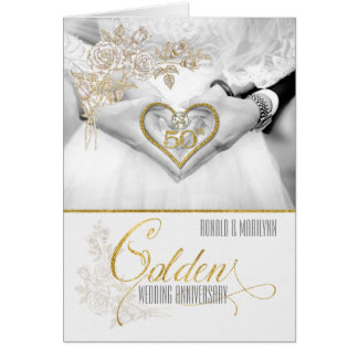 50th Wedding Anniversary Golden Years Greeting Card