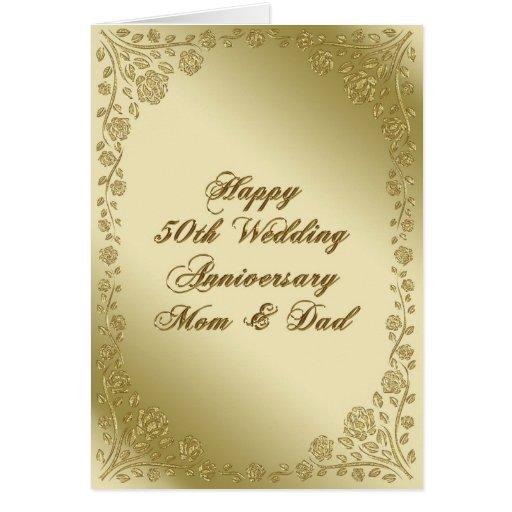50th Wedding Anniversary Greeting Card