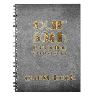 50th Wedding Anniversary Guest Book Chalkboard
