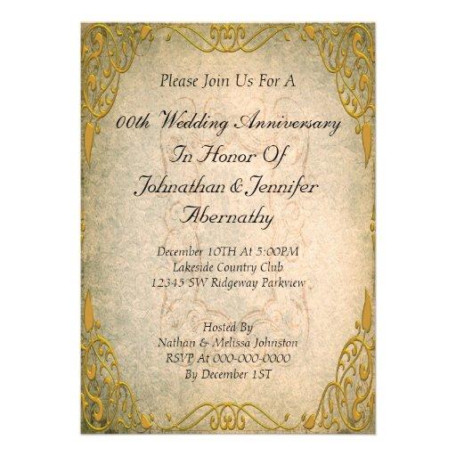 50th Wedding Gift Etiquette : Wedding Invitation Wording: Wedding Anniversary Invitation Maker