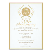 Amazing 50th Wedding Anniversary Invitation
