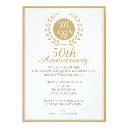 Superieur 50th Wedding Anniversary Invitation ...
