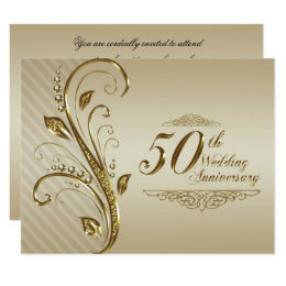 50th Wedding Anniversary Invitation Card ...