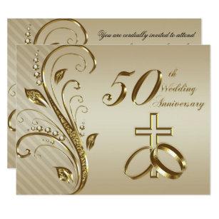 50th wedding anniversary invitations announcements zazzle 50th wedding anniversary invitation card stopboris Gallery