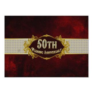 50th Wedding Anniversary Invitation Classy