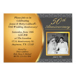 50th Wedding Anniversary Invitations 13 Cm X 18 Cm Invitation Card