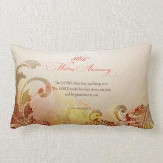 50th Wedding Anniversary, Lord Bless & Keep Lumbar Cushion