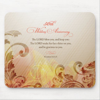 50th Wedding Anniversary, Lord Bless & Keep Mouse Pad