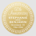50th Wedding Anniversary Personalised gold