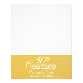 50th Wedding Anniversary Personalized Golden 11.5 Cm X 14 Cm Flyer