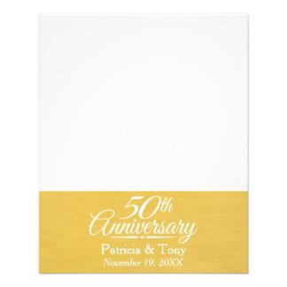 50th Wedding Anniversary Personalized Golden 11.5 Cm X 14 Cm Flyer