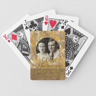 50th Wedding Anniversary | Personalized Photo Bicycle Playing Cards