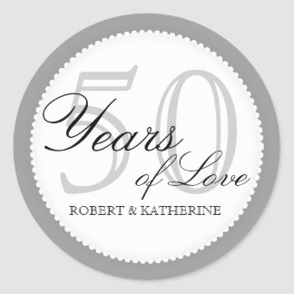 50th Wedding Anniversary Personalized Sticker
