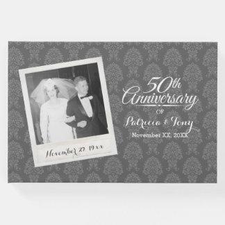 50th Wedding Anniversary Photo Damask Pattern