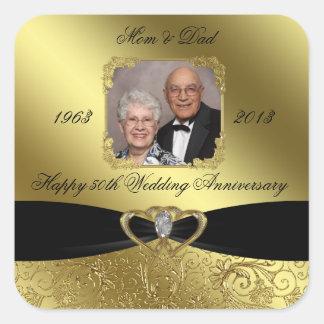 50th Wedding Anniversary Photo Sticker