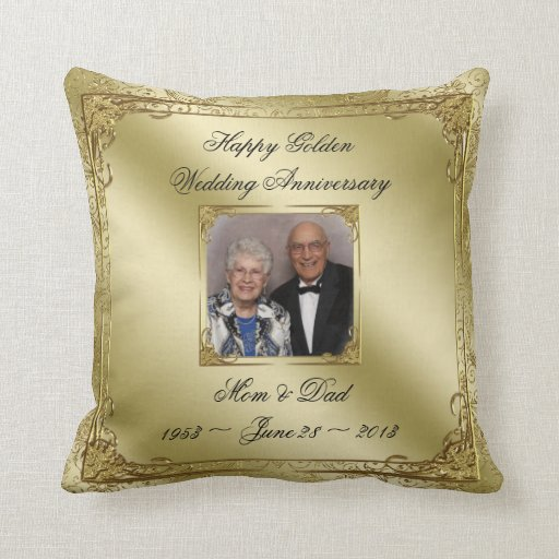 50th Wedding Anniversary Photo Throw Pillow