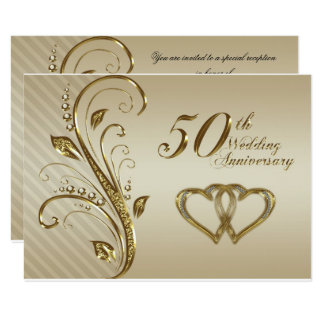 50th Wedding Anniversary RSVP Card