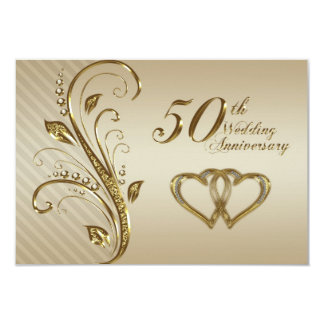50th Wedding Anniversary RSVP Card 9 Cm X 13 Cm Invitation Card
